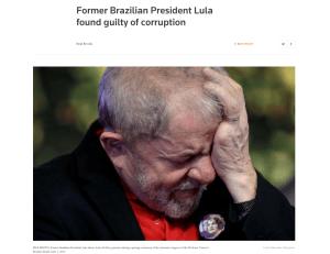 Cobertura da Reuters sobre a condenação de Lula