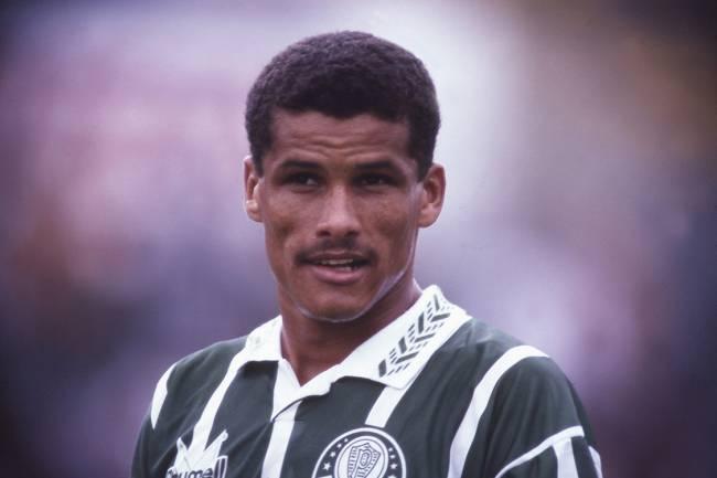 Rivaldo, do Palmeiras, no jogo contra a Portuguesa