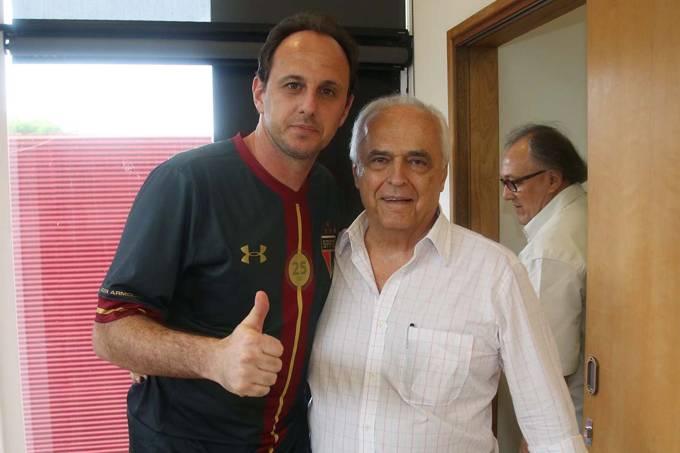 Rogério Ceni e Leco