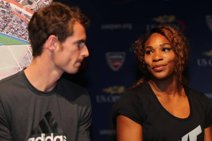 Andy Murray e Serena Williams, durante evento em 2013