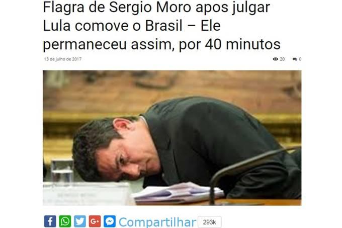 Sergio Moro notícia falsa