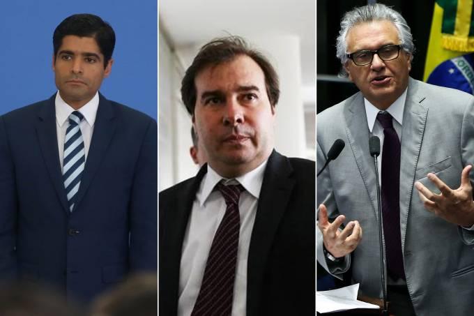 ACM Neto, Rodrigo Maia e Ronaldo Caiado