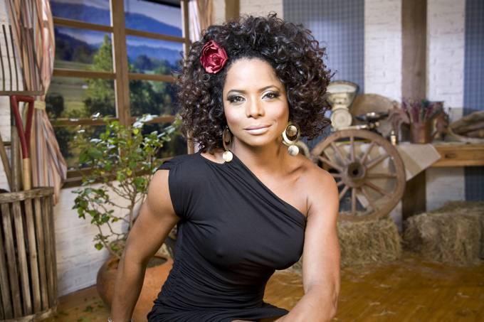 Adriana Bombom no programa 'A Fazenda 2' (2009), da Rede Record