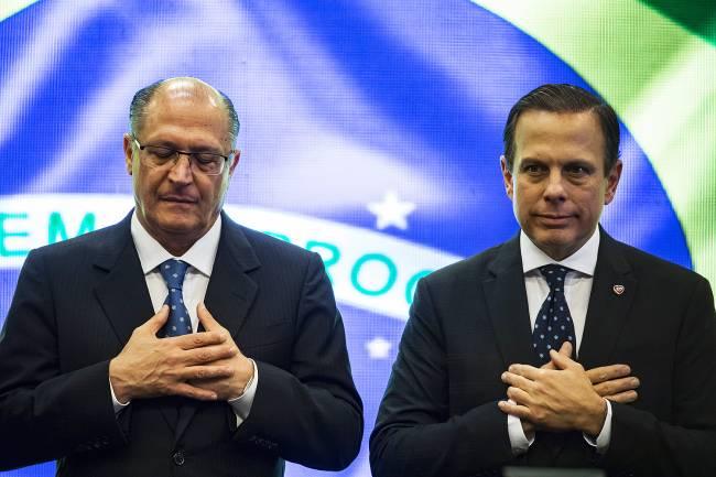 O prefeito João Doria e o governador Geraldo Alckmin