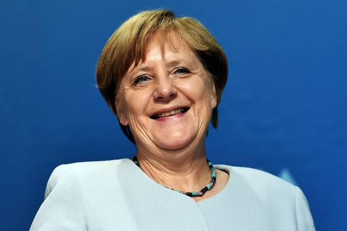 Angela Merkel durante reunião, em Bayreuth, na Alemanha – 24/08/2017