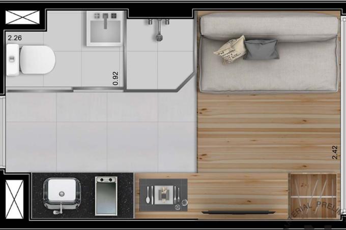 Vitacon vai lançar o menor apartamento da América