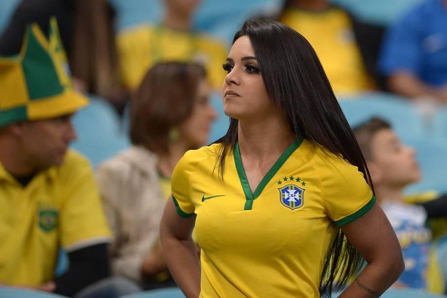 Movimentação de torcedores na Arena do Grêmio, em Porto Alegre (RS), antes da partida entre Brasil e Equador, Válida pela 15ª rodada das Eliminatórias Sul-americanas da Copa do Mundo de 2018 - 31/08/2017