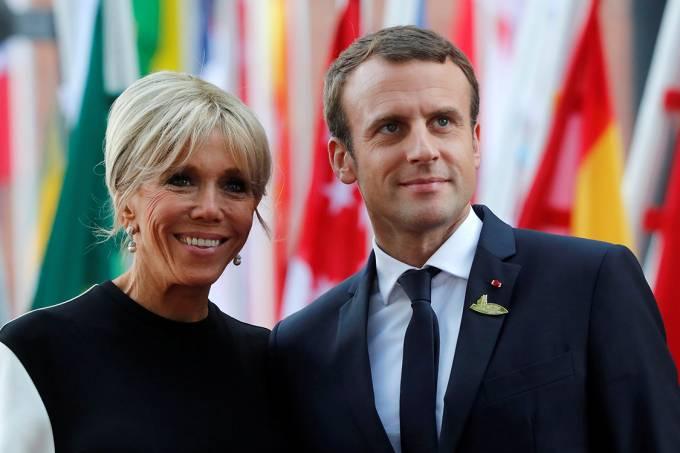 Brigitte e Emmanel Macron