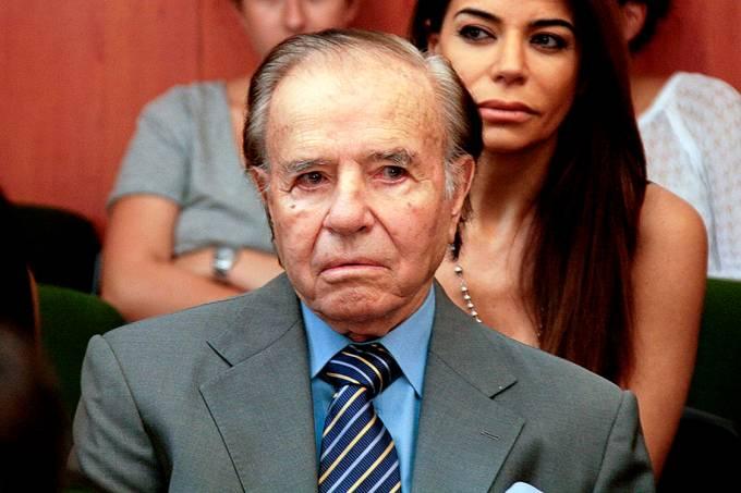 O ex-presidente da Argentina, Carlos Menem