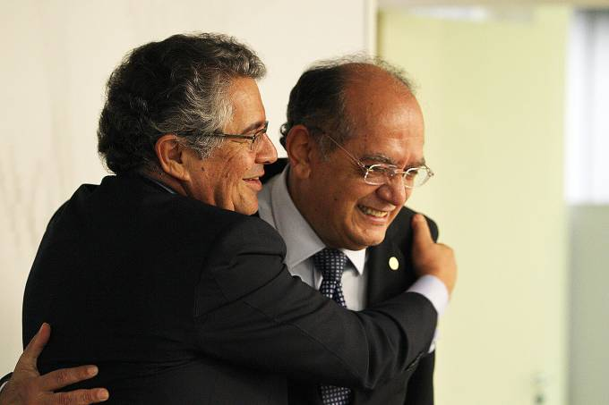 Os ministros Marco Aurélio Mello e Gilmar mendes, do STF (Supremo Tribunal Federal)