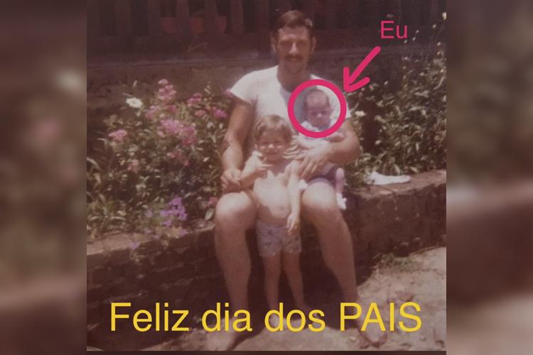 O jornalista Evaristo Costa homenageia seu pai
