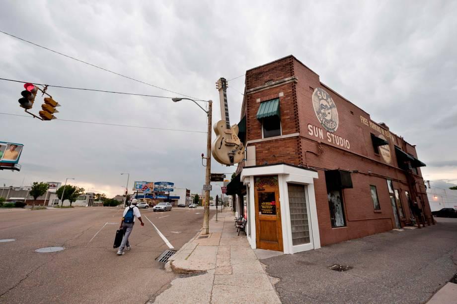 O estúdio em que Elvis gravou seu primeiro compacto é, hoje, um misto de museu, loja, café e estúdio de gravação