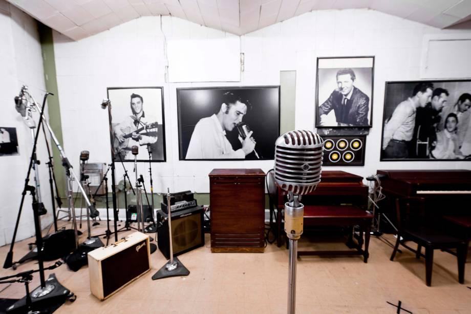 A sala de gravação do Sun Studio ainda hoje é utilizada. Por menos de 10 mil dólares, pode-se gravar um CD demo