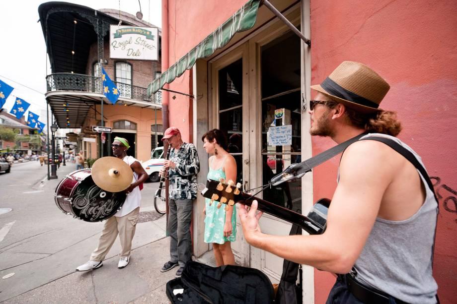 Em Nova Orleans, há sempre alguém fazendo música