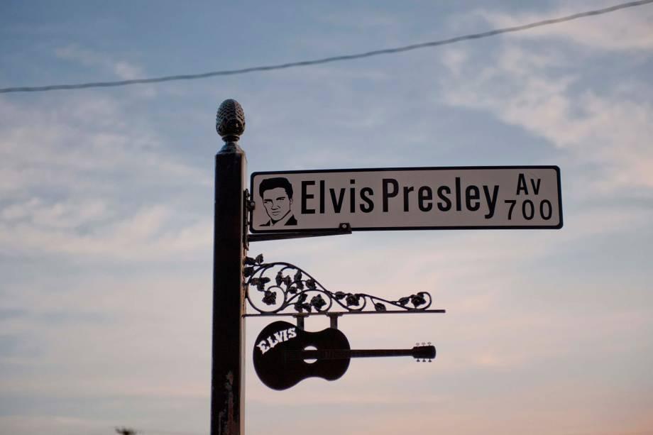 Placa de rua na cidade de Shreveport, no estado de Louisiana
