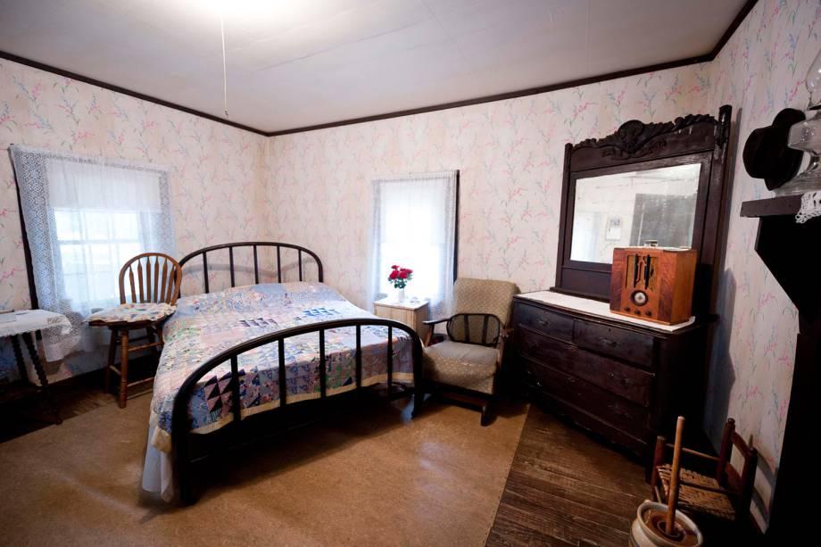 Quarto da casa em que Elvis nasceu, em Tupelo