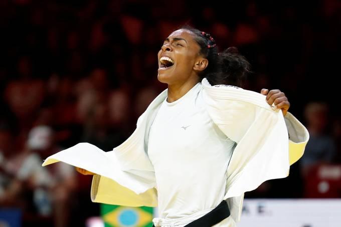 A judoca brasileira Erika Miranda