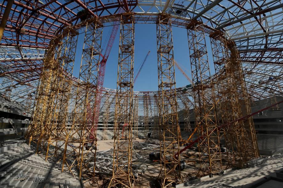 Obras no interior da Arena Samara na Rússia - 23/08/2017