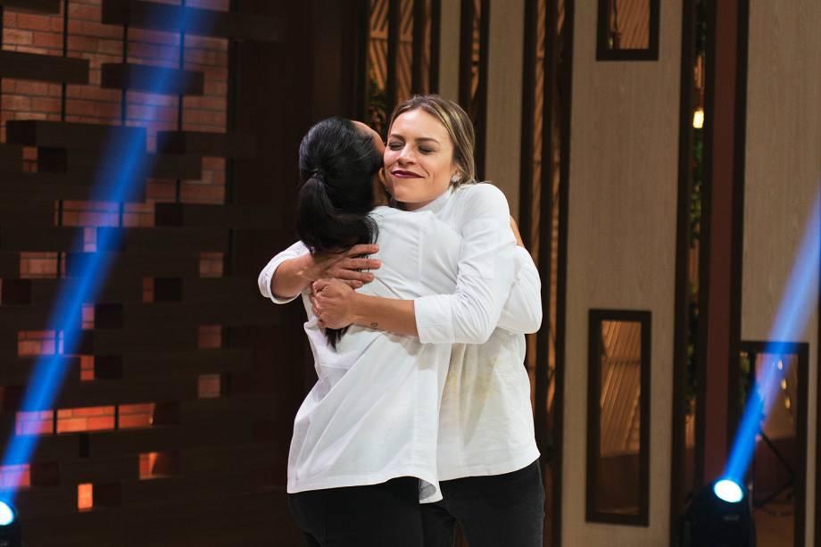 Deborah e Michele durante a final do MasterChef