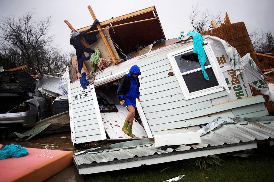 Passagem de furacão Harvey deixa rastro de destruição em Rockport, Texas (EUA) - 27/08/2017