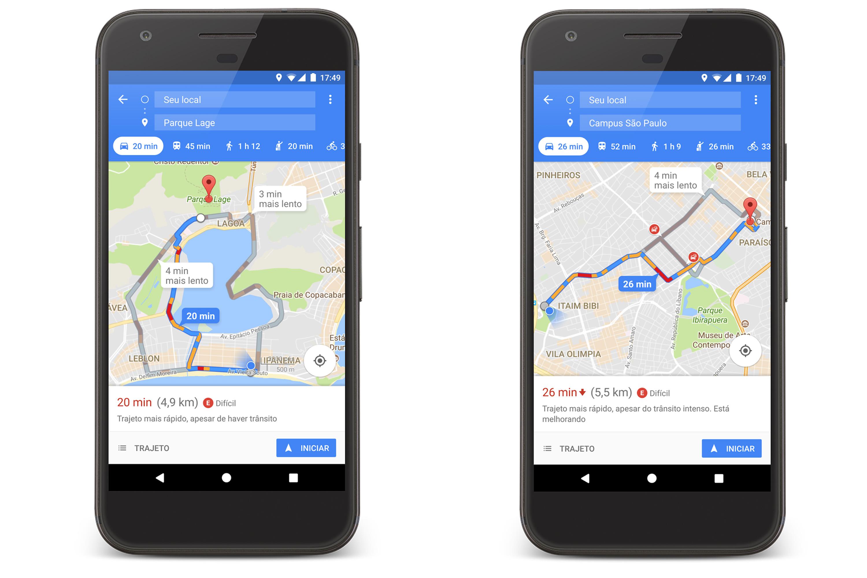 Google Maps disponibilidade de vagas pra estacionar