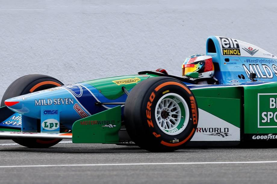 Filho de Schumacher pilota carro da primeira vitória do pai, no Circuit de Spa-Francorchamps, na Bélgica - 27/08/2017