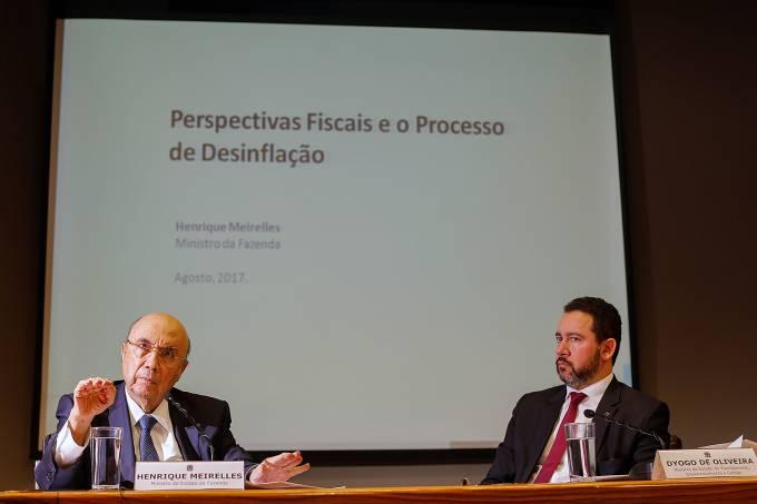 Os ministros da Fazenda, Henrique Meirelles