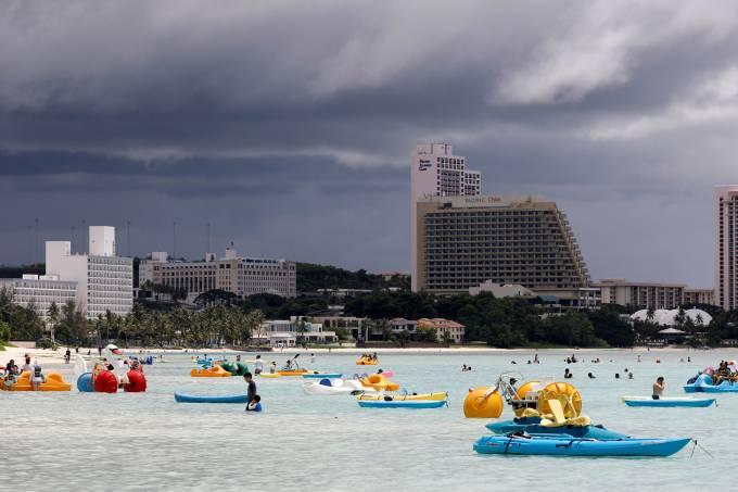 Movimentação de turistas em Guam, território dos Estados Unidos
