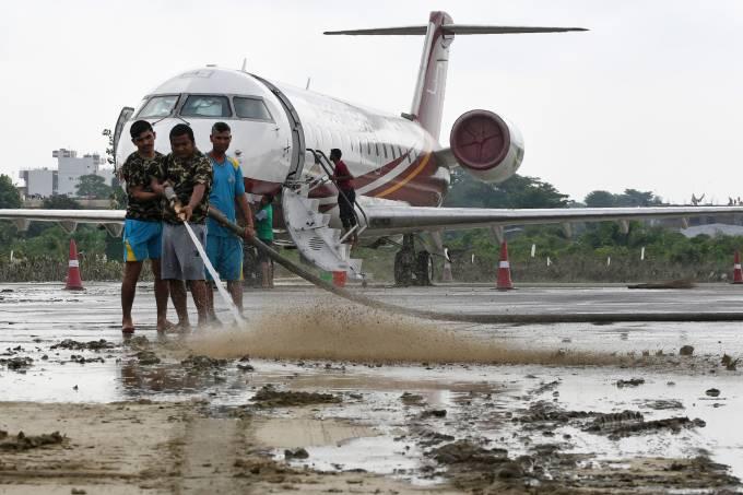Chuvas de monção atingem o Nepal