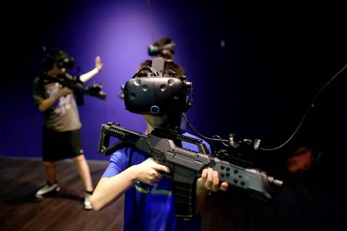 Parque de realidade virtual em Taiwan