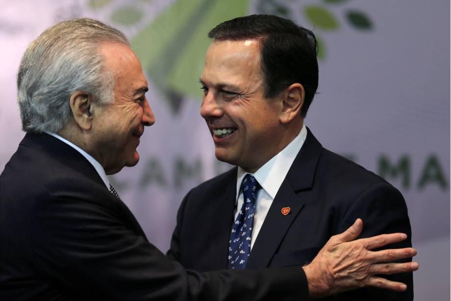 Presidente Michel Temer durante encontro com o Prefeito de São Paulo João Dória, na sede da prefeitura - 07/08/2017