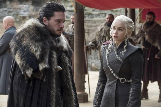 Jon Snow e Daenerys – Game of Thrones – 7ª temporada