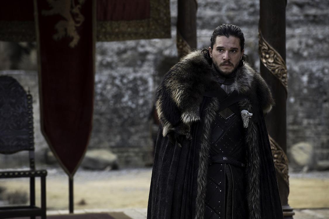 Jon Snow (Kit Harington) no último episódio da 7ª temporada de 'Game of Thrones'