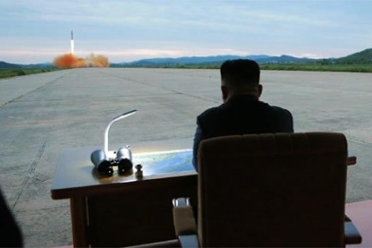 O ditador da Coreia do Norte, Kim Jong Un - 29/08/2017
