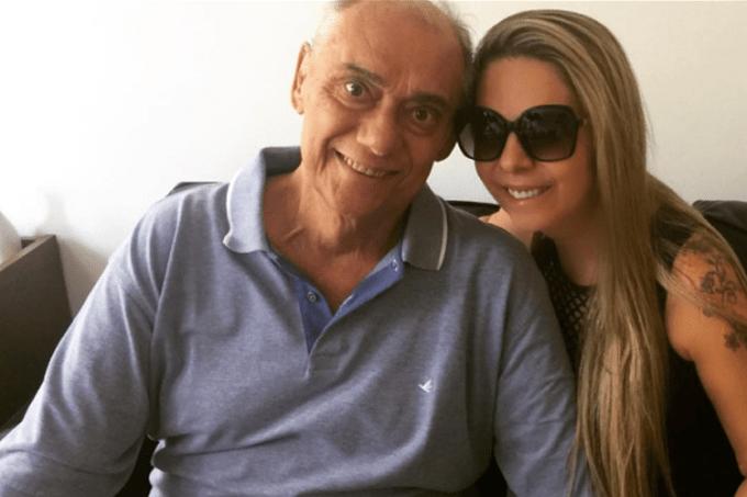 Marcelo Rezende e namorada Luciana Lacerda