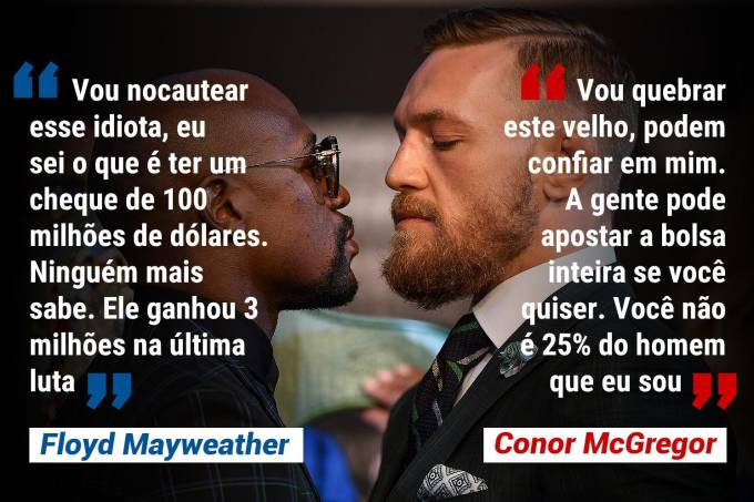 Frases Floyd Mayweather e Conor McGregor