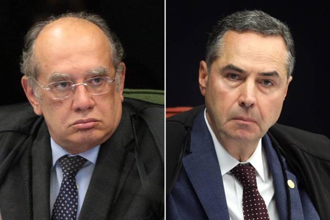 Os ministros do STF Gilmar Mendes e Luís Roberto Barroso