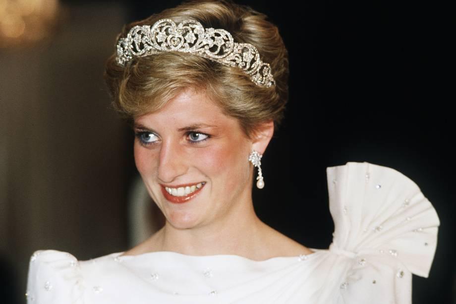 Princess Diana durante a visita ao Barein em 1986