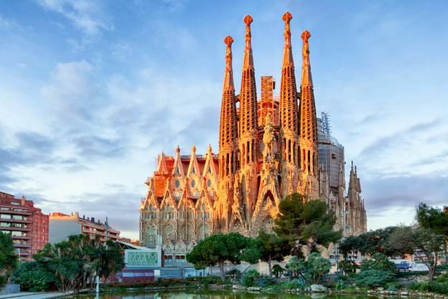 Catedrak da Sagrada Familia em Barcelona