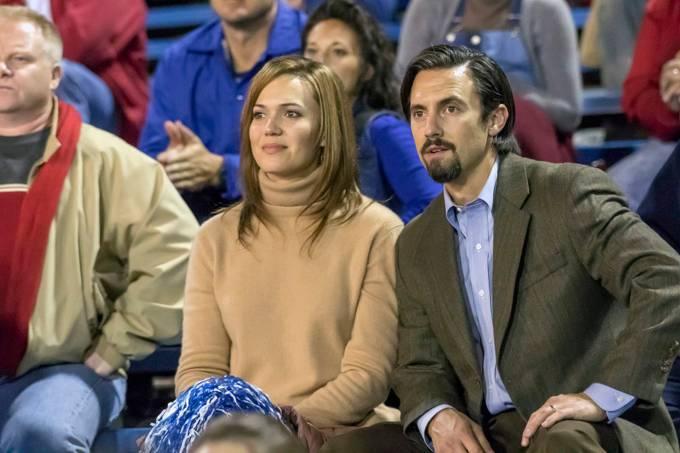 Rebecca (Mandy Moore) e Jack (Milo Ventimiglia) em 'This Is Us'