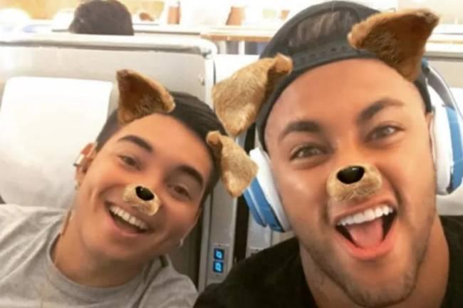 Neymar e o amigo Gil Cebola, em foto postada no Instagram