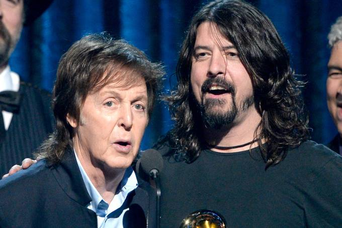 Paul McCartney e Dave Grohl