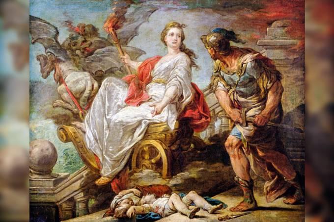 Alienação parental – Pintura do francês Charles-André van Loo mostra Medeia, Jasão e as crianças ao chão