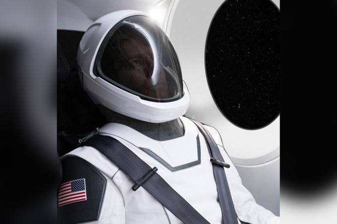Roupa para viagem espacial tripulada