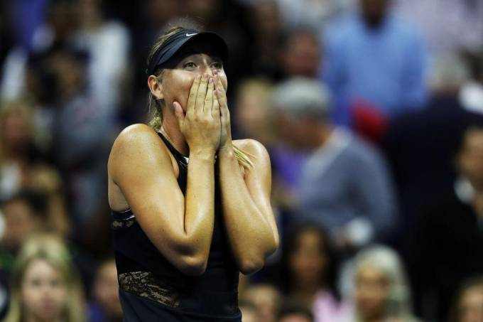 Maria Sharapova se emocionou ao vencer Halep no US Open