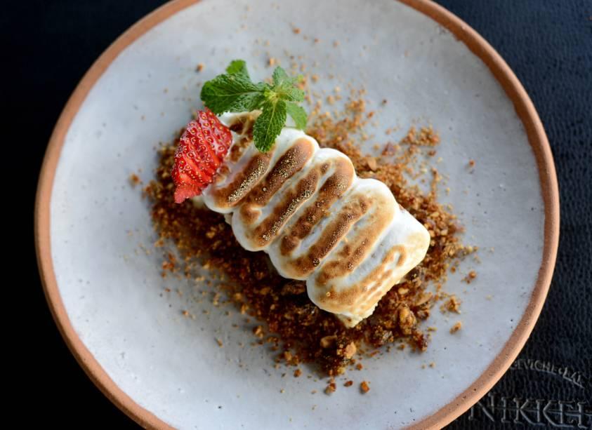 Tres leches: sobremesa oferecida pelo restaurante no Menu Veja Comer & Beber