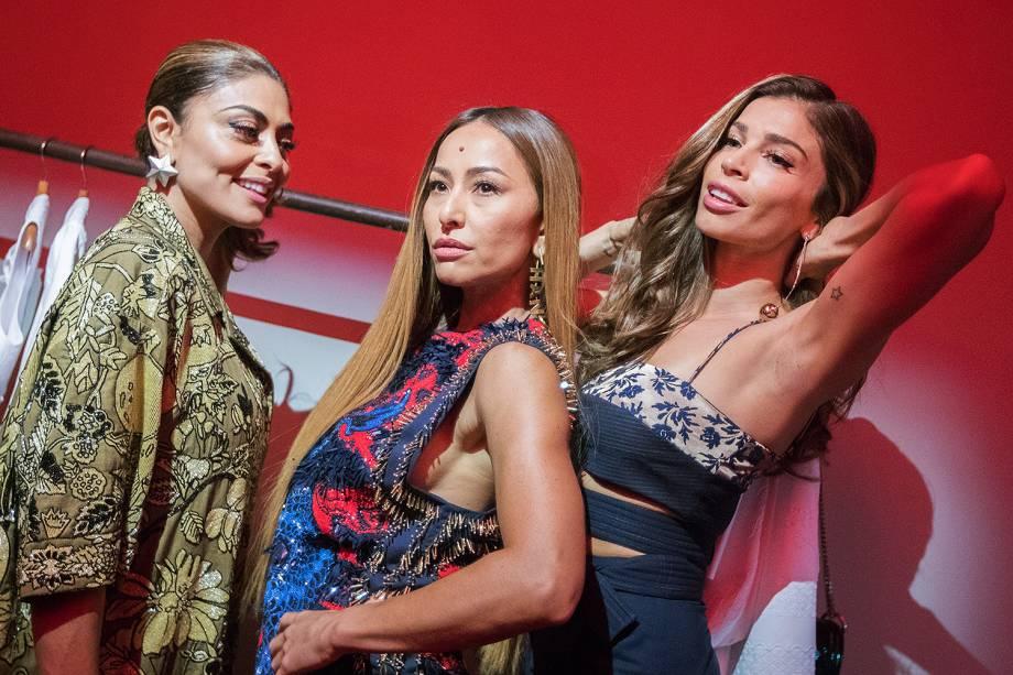 Grazi Massafera, Juliana Paes e Sabrina Sato durante evento da grife Animale, na edição N44, Verão 2018, do São Paulo Fashion Week (SPFW) - 30/08/2017
