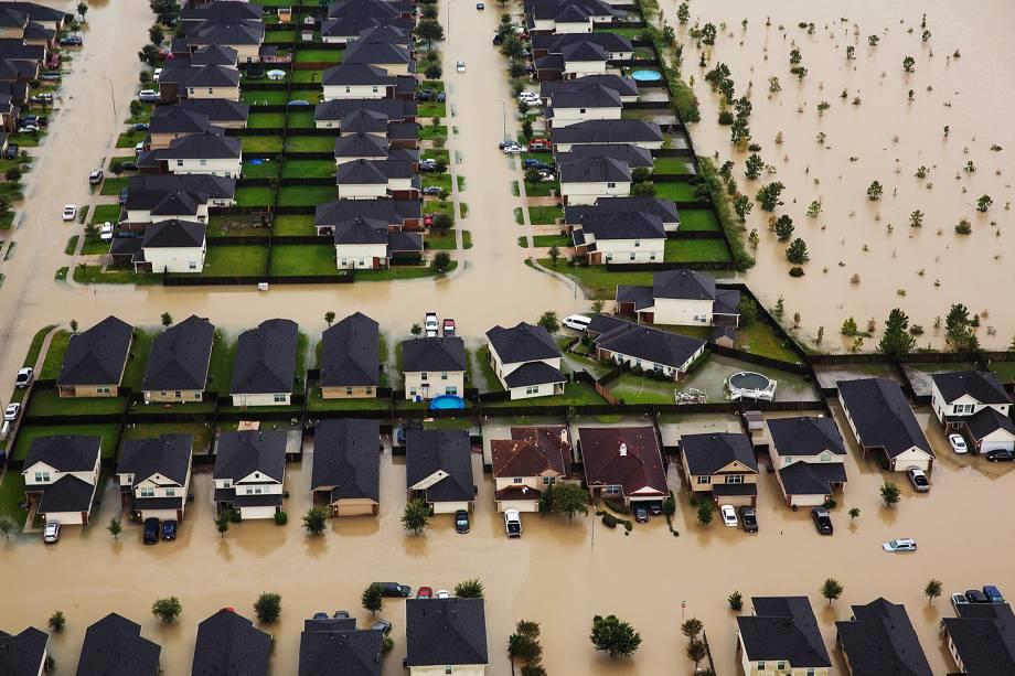 Vista aérea após inundações provocadas pela passagem do furacão Harvey em Houston, no estado americano do Texas - 30/08/2017