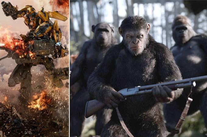 Transformers e Planeta dos Macacos