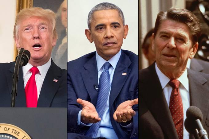 Trump, Obama e Reagan